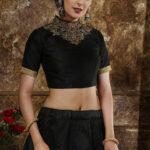 Black Multi Foil Exclusive Designer Lehenga Choli With Dupatta