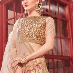 Exclusive Pink Foil Printed Lehenga Choli With Dupatta Set 1