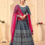 Grey Designer Wear Digital Printed Lehenga Choli Collection (1)