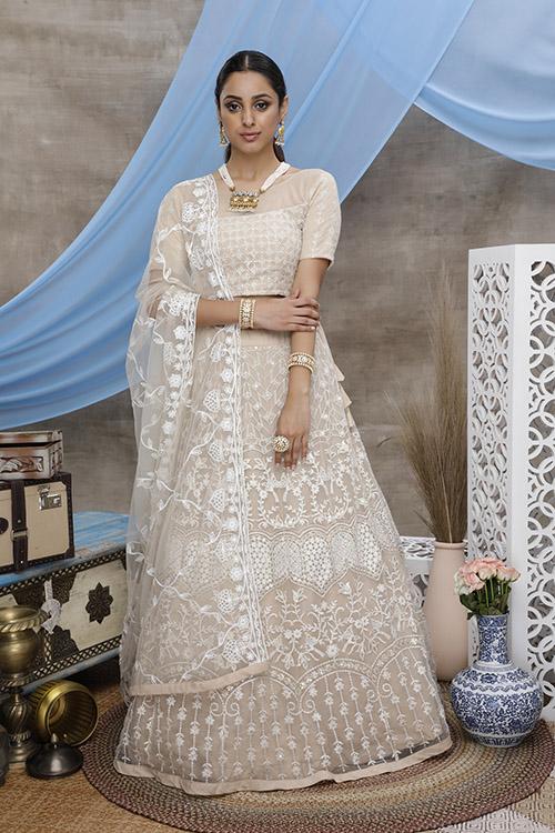 Latest Wedding Wear Net Lehenga Choli For Women (3)