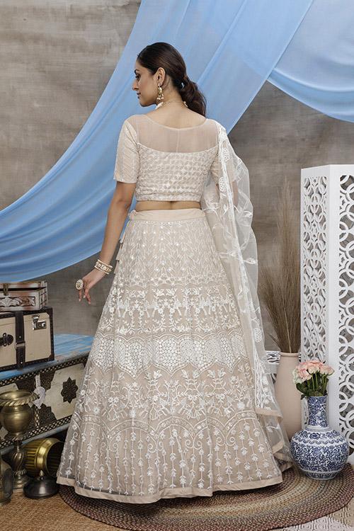 Latest Wedding Wear Net Lehenga Choli For Women (4)