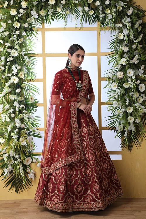 Maroon Color Semi Stitched Exclusive Lehenga Choli (2)
