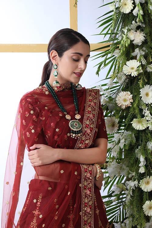 Maroon Color Semi Stitched Exclusive Lehenga Choli (3)