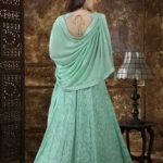 Mint Green Georgette Embroidered Lehenga Choli (1)
