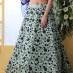 Mint Green Party Wear Lehenga Choli Collection Set