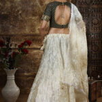 Off White Thread Embroidered Semi Stitched Lehenga Choli (1)