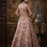 Peach Color Wonderful Foil Printed Lehenga Choli (1)