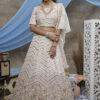 Pearl White Beautiful Bridal Look Designer Lehenga Choli Collection