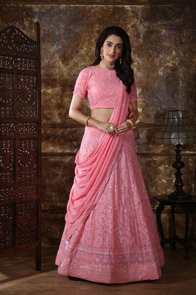 Pink Designer Lehenga Choli buy Now Shubhkala Store