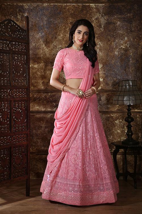 Pink Designer Lehenga Choli buy Now Shubhkala Store (1)