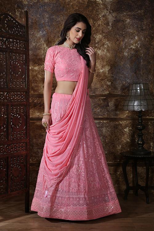 Pink Designer Lehenga Choli buy Now Shubhkala Store (3)