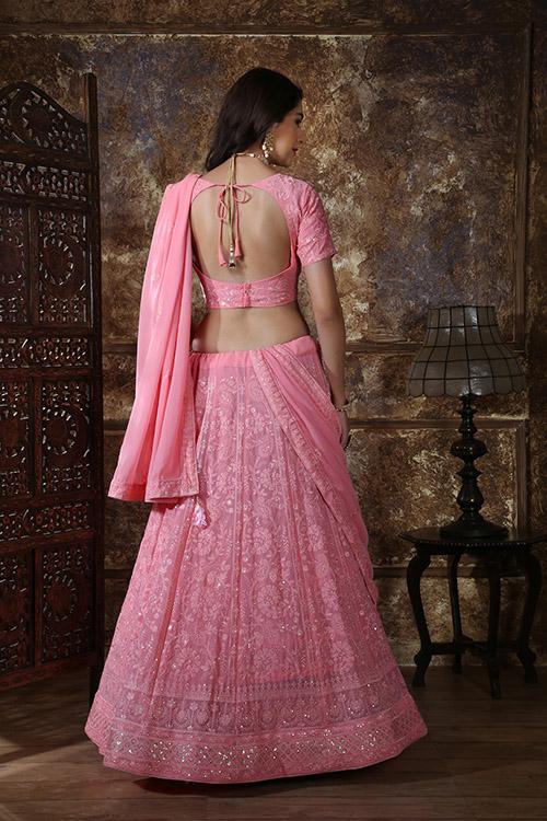 Pink Designer Lehenga Choli buy Now Shubhkala Store (4)