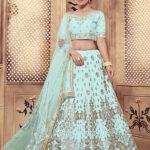 Turquoise Blue Color Lehenga Choli with Dupatta Collection (1)