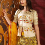 White and Yellow Contrast Color Lehenga Choli Full Set Collection (1)