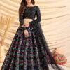 Black Color Girly Look Designer Foil Printed Lehenga Choli with Dupatta
