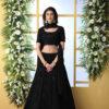 Black Thread Embroidered Looking Beautiful Lehenga Choli