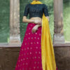 Contrast Color Designer Exclusive Squince Work Lehenga Choli