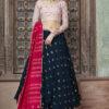 Contrast Designer Exclusive Semi Stitched Lehenga Choli