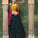 Dark Green Designer Exclusive Traditional Lehenga Choli (1)