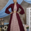 Dusty Pink Lehenga Choli With Contrast Color Floor Length Koti Collection