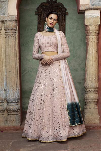 Dusty Pink Sequince Exclusive Lehenga Choli Collection