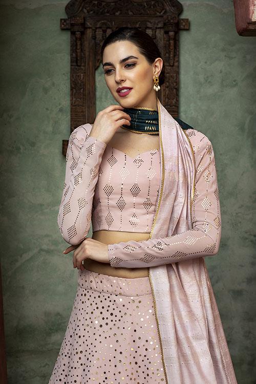 Dusty Pink Sequince Exclusive Lehenga Choli Collection (2)