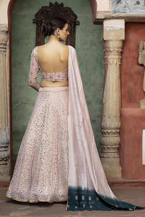Dusty Pink Sequince Exclusive Lehenga Choli Collection (4)