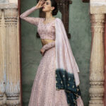 Dusty Pink Sequince Exclusive Lehenga Choli Collection (1)