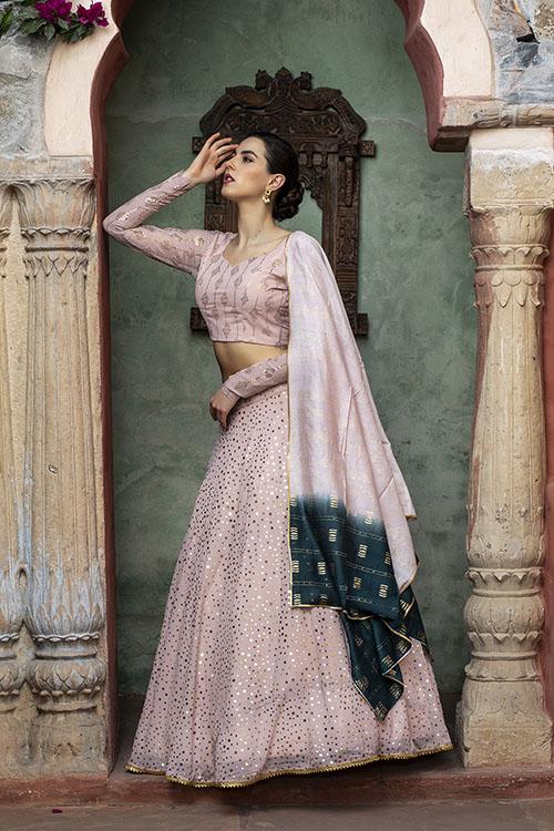 Dusty Pink Sequince Exclusive Lehenga Choli Collection (5)