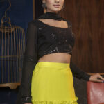 Floracance Green With Contrast Black Color Lehenga Choli Collection (1)