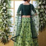 Floracance Green With Net Fabric Embroiered Lehenga Choli (1)