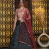 Green Jacquard Weaving Semi Stitched Lehenga Choli
