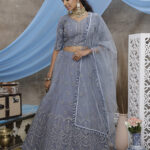 Grey Color With Unstitched Choli With Lehenga Collection with Dupatta (1)