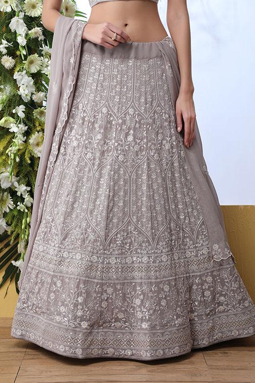 Grey Georgette Traditional Look Designer Lehenga Choli (3)