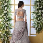 Grey Georgette Traditional Look Designer Lehenga Choli (1)