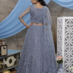 Grey Thread Embroidered With Beautiful Work Lehenga Choli (1)
