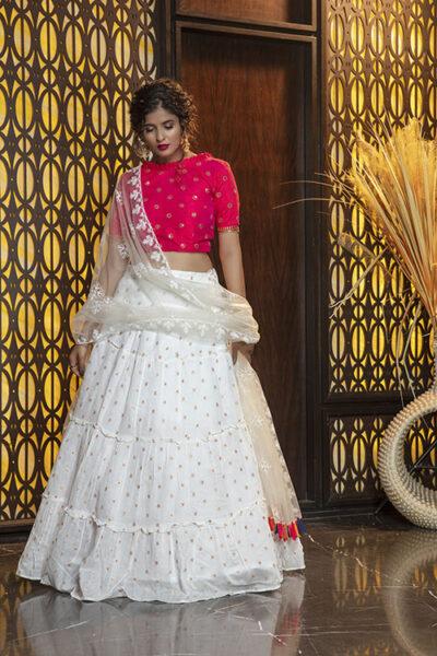 Jacquard Work Exclusive Designer Lehenga Choli Collection