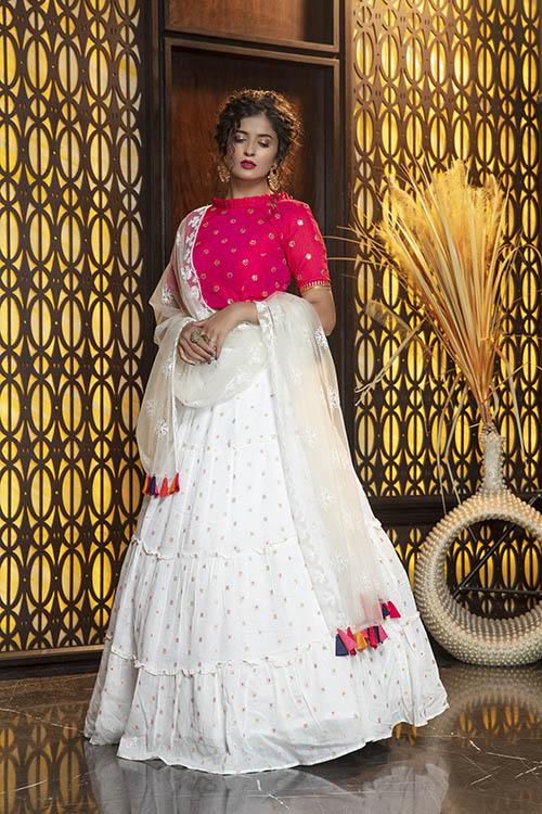 Jacquard Work Exclusive Designer Lehenga Choli Collection (2)