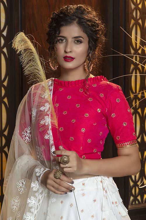 Jacquard Work Exclusive Designer Lehenga Choli Collection (3)