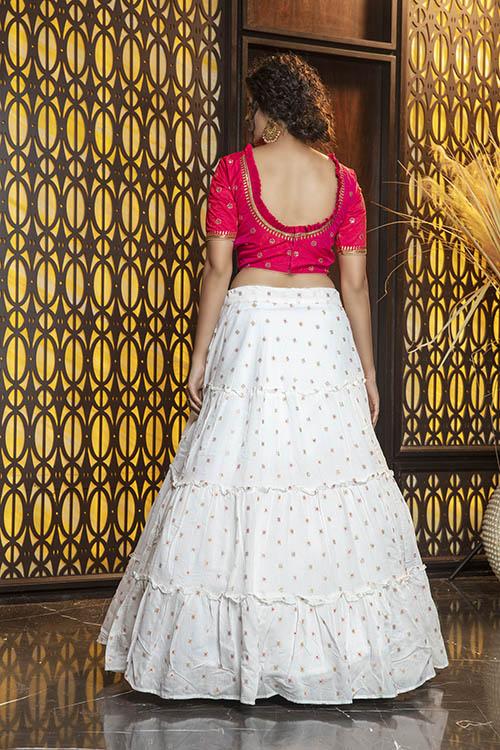 Jacquard Work Exclusive Designer Lehenga Choli Collection (4)