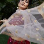 Maroon Printed and Foil Work Designer Lehenga Choli (1)