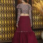 Maroon Semi Stitched Lehenga Choli (1)