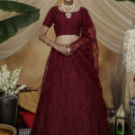 Marron Color Bridal Look Exclusive Weeding Wear Lehenga Choli Collection (2)