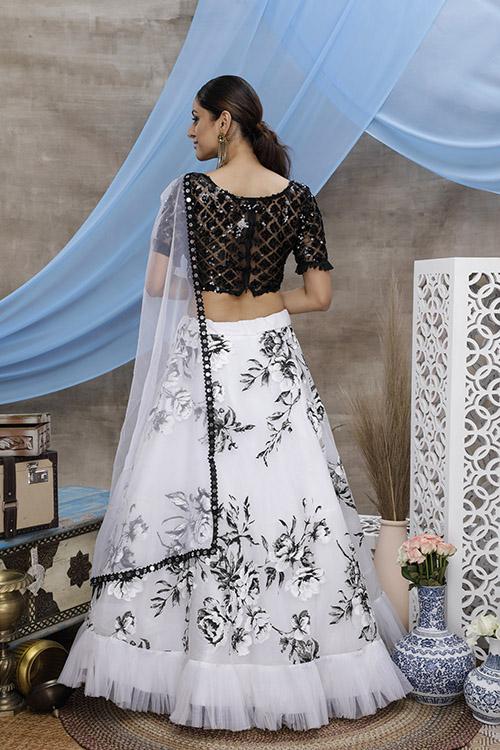 Multi Color Block Printed Semi Stitched Exclusive Lehenga Choli (4)