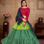 Multi Color Sequince Work Semi Stitched Lehenga Choli Collection (1)