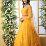 Mustard Yellow Color With Net Fabric Embroidered Lehenga Choli With Dupatta (1)