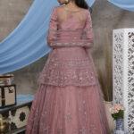 Peach Color Designer Collection Lehenga With Long Choli (1)