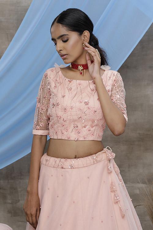 Peach Color Exclusive Designer Lehenga Choli Collection (2)