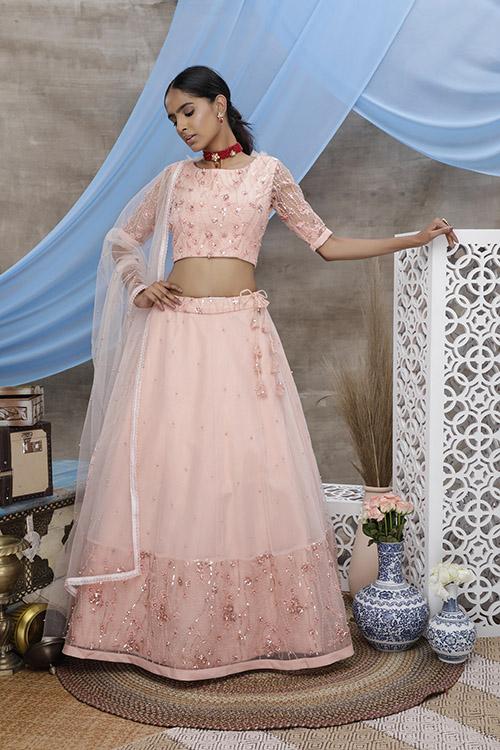 Peach Color Exclusive Designer Lehenga Choli Collection (3)