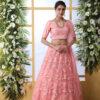 Peach Embroiered Work Lehenga Choli With Fancy Style Dupatta